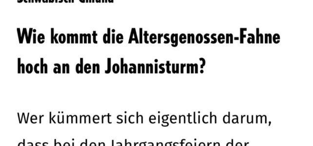 Remszeitung berichtet über Fahnenmeister Tobias Vogt