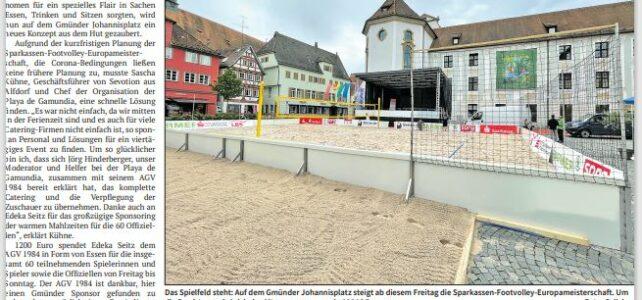 AGV84 bewirtet Footvolley EM auf dem Johannisplatz vom 06.08.-08.08.2021